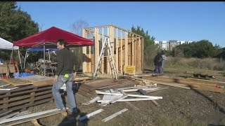 UPDATE: Construction wrapping up on tiny model house for homeless in Charleston