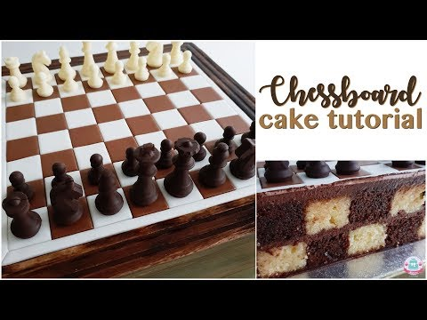 CHESSBOARD CAKE TUTORIAL | Abbyliciousz The Cake Boutique