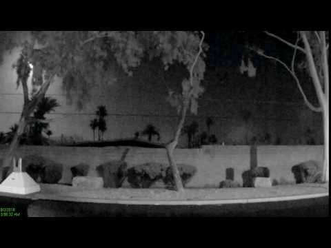 Clear view of meteor in Phoenix, Arizona on June 2, 2016 from SRP security camera