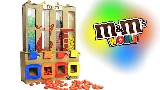How to Make M&M's Chocolate Vending Machine - Just5mins