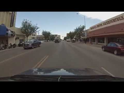 Roswell, New Mexico - Drive Through Downtown Roswell HD (2016)