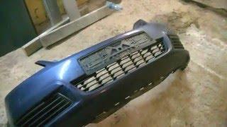 Ремонт переднего бампера Opel Zafira B.