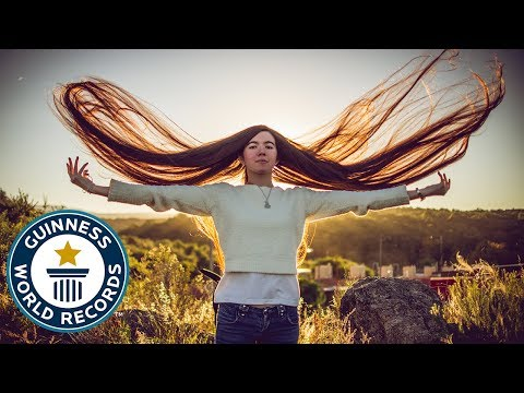 Longest hair on a teenager! - Guinness World Records