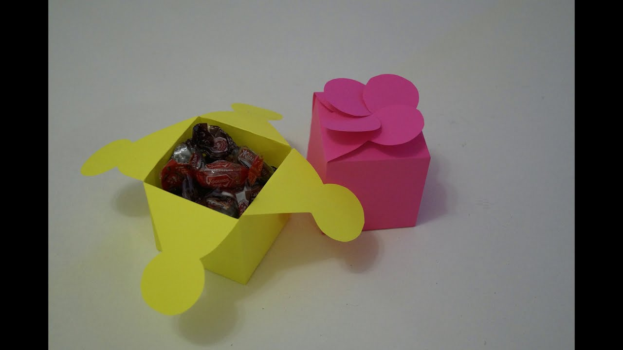 Коробочка для подарка своими руками - YouTube