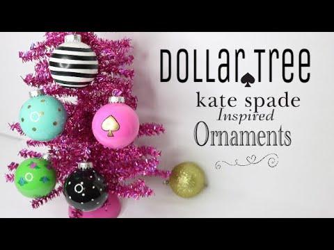dollar tree diy kate spade ornaments diy christmas ornaments