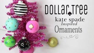 Dollar Tree DIY Kate Spade Ornaments | DIY Christmas Ornaments