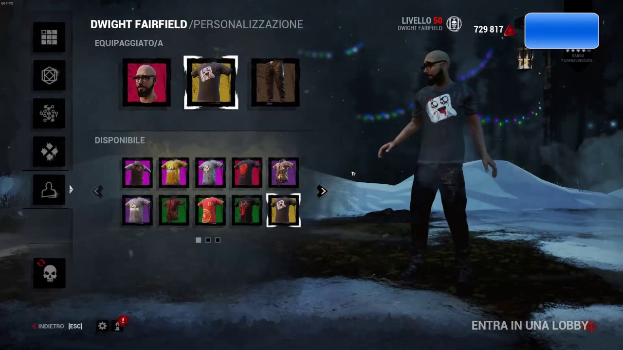 Dead by daylight all the skin - EXCLUSIVE - DLC - NOT AVAILABLE  ITA