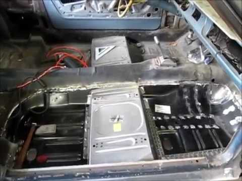 1965 Mustang passenger floor pan installation.  Mystique part 2