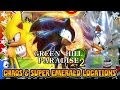 Green Hill Paradise Act 2   Hyper Sonic   All Chaos Super Emerald Locations