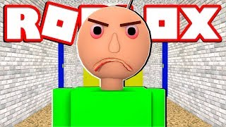 FUJA DO BALDIS NO ROBLOX !! - ( Roblox Baldis Basic )