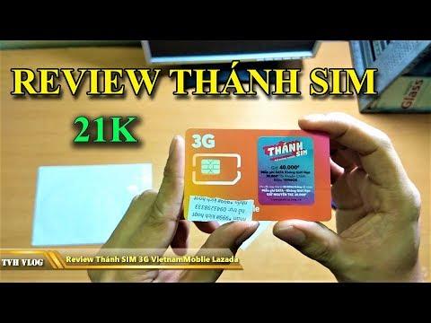 Review thánh sim 3G Vietnammobile giá như cho 21k Lazada | Văn Hóng
