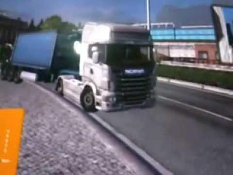 cruzando macha com uma scania euro truck simulator2