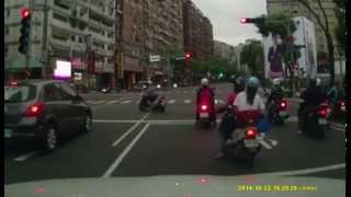 驚險一瞬間 闖紅燈的騎士 反而救了警察???