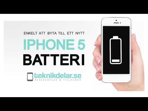 Såhär byter du batteri på iPhone 5 - Teknikdelar.se