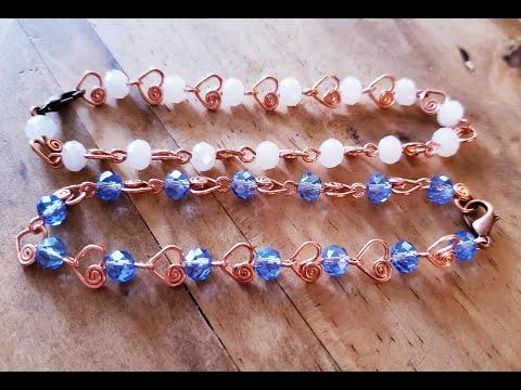 Delicate Heart Link Tennis Bracelet - Beebeecraft - Cheryl St.Pierre Of Majestic Wire Artworks