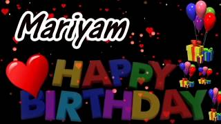 Mariyam Happy Birthday Song With Name | Mariyam Happy Birthday Song | Happy Birthday Song