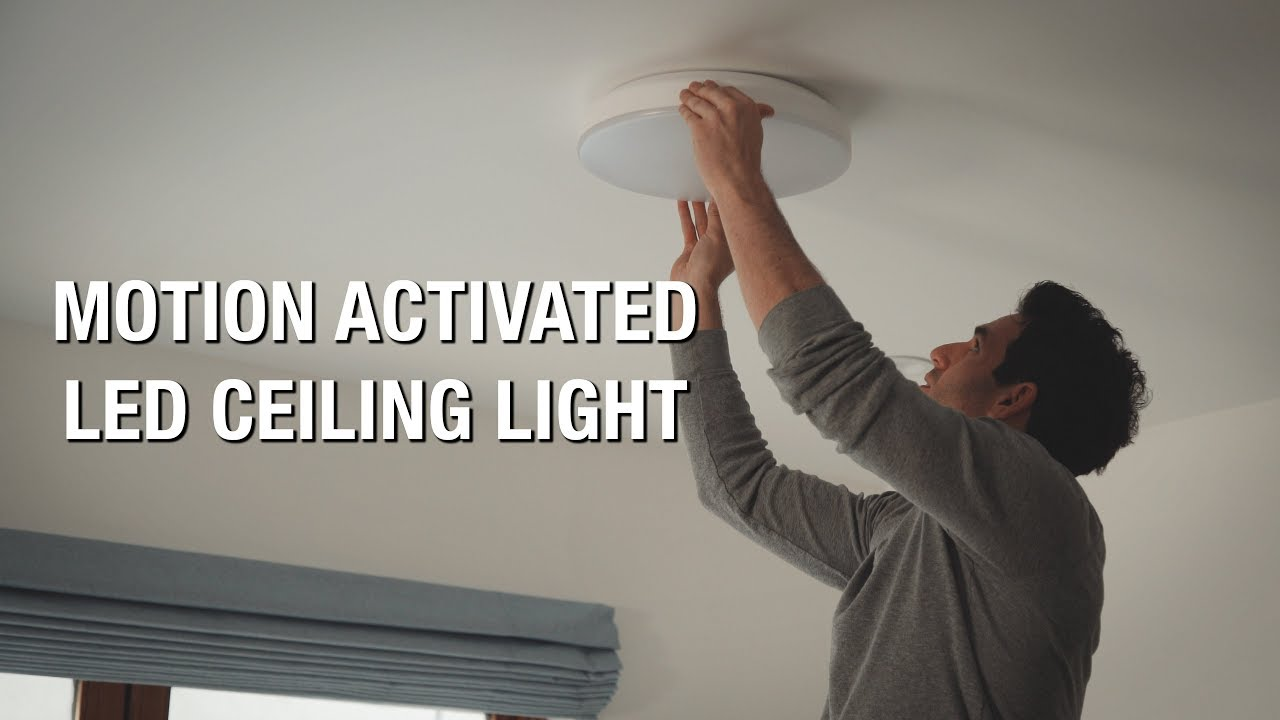Motion Activated Led Ceiling Light Youtube