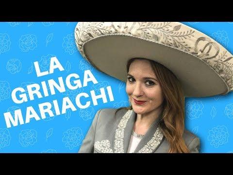 GRINGA Cantando Mariachi   Cantando EL REY Vicente Fernandez