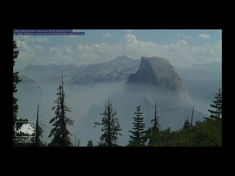 Time Lapse Shows Thick Smoke From Yosemite Fire