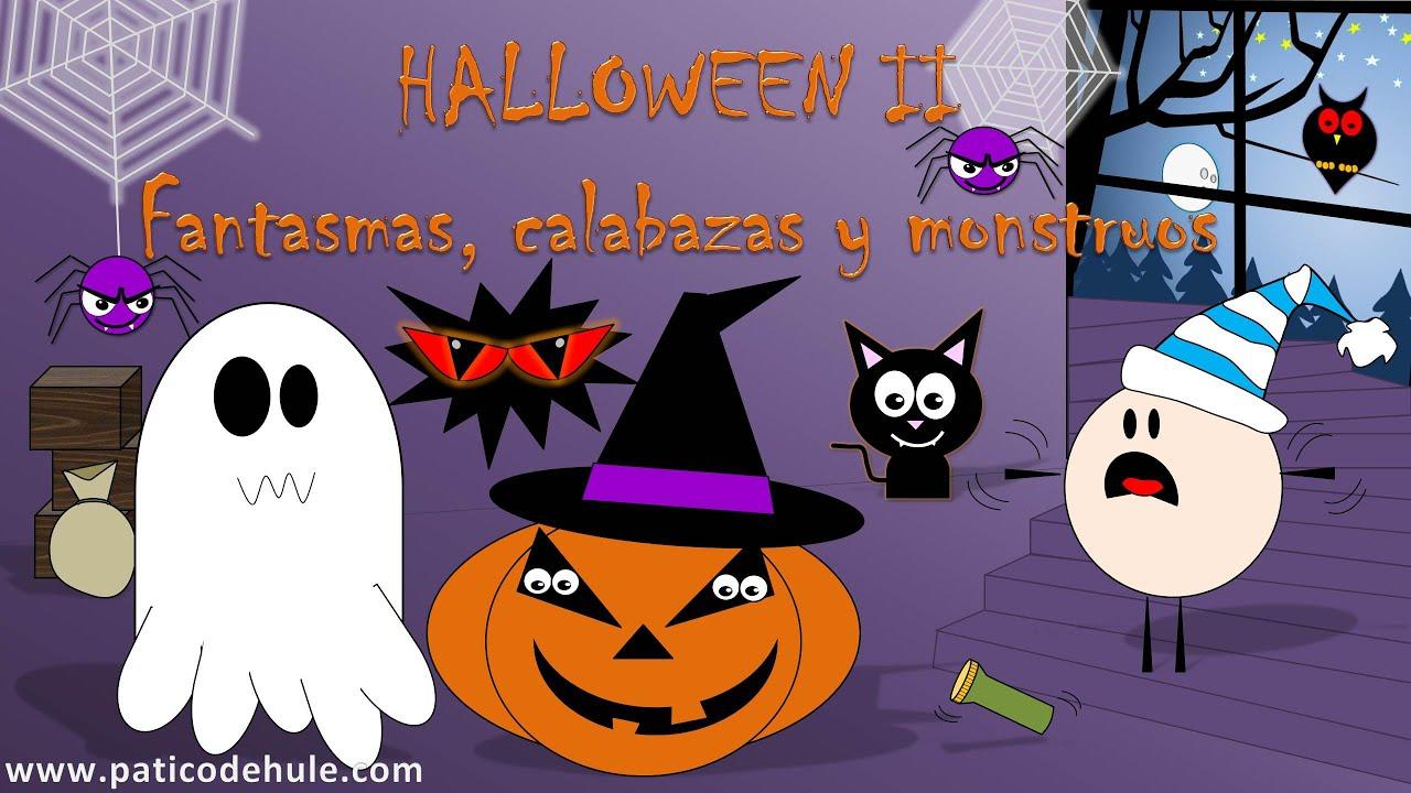 Cuento de halloween para ni os fantasmas calabazas y - Dibujos infantiles halloween ...