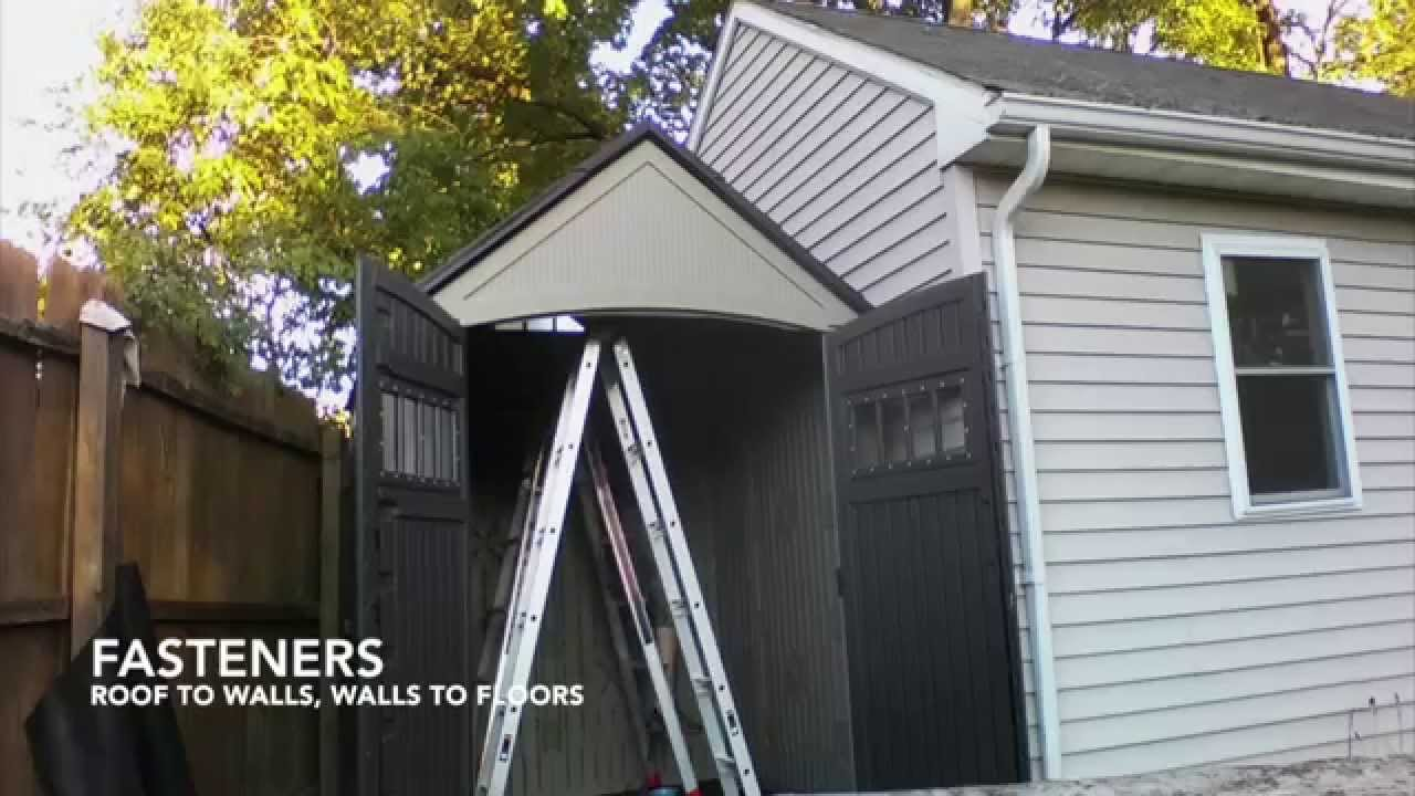 "Garden Sheds 7x7 7x7 rubbermaid ""roughneck"" shed assembly timelapse - youtube"