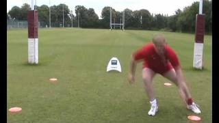 U18 England Rugby Player Works Footwork Speed And Agility