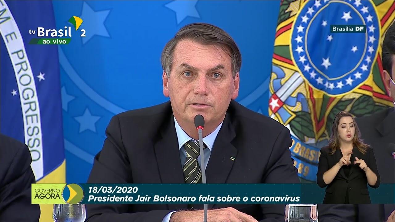 Presidente da  República, Jair Bolsonaro, realiza coletiva sobre o coronavírus
