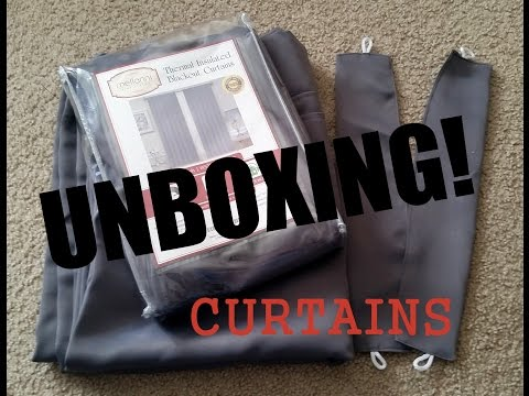 UNBOXING!! Mellanni Thermal Insulated Blackout Curtains - 2 Panels - Gray