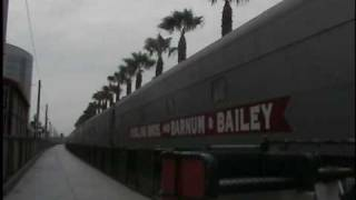 Ringling Brothers & Barnum & Bailey circus train departing San Diego