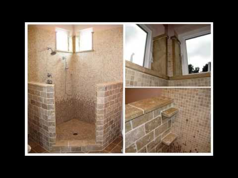 Open shower bathroom designs