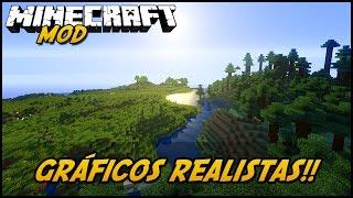 Minecraft Mod: GRÁFICOS REALISTAS! (Sombras e Gráficos Novos // Shaders Mod)
