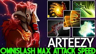 Arteezy [Juggernaut] Max Attack Speed Omnislash is OP Unreal D…
