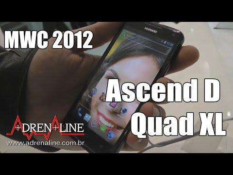 [MWC 2012] Hands-on do Huawei Ascend D Quad XL