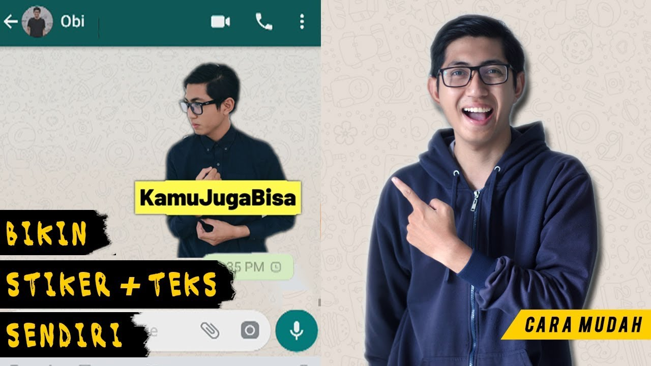 Cara Mudah Bikin Stiker Whatsapp Dengan Teks Youtube