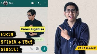 Download Video Cara Mudah Bikin Stiker Whatsapp Dengan Teks! MP3 3GP MP4