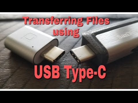Transferring Files Using USB Type-C