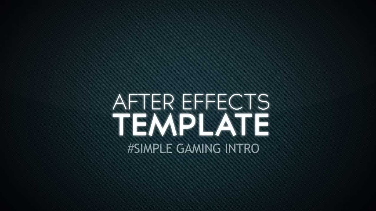 Free after effects gaming intro template youtube youtube premium maxwellsz