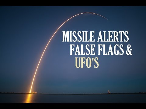 THIS IS CRAZY!! 3 FALSE FLAG Missile Alerts, WHAT is going on!! And Then UFO Sighting? 2018