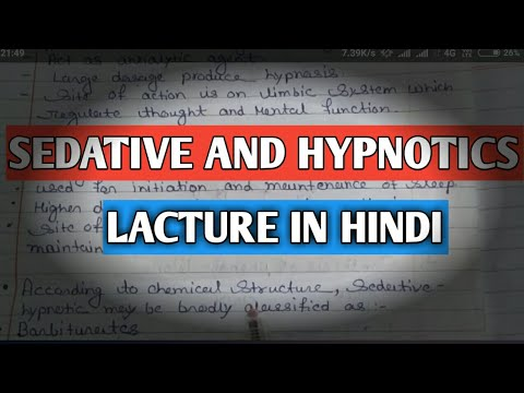 Sedative And Hypnotics Introduction Pharmacology Lacture