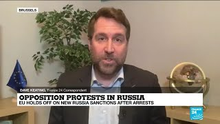 EU holds off new sanctions against Russia over arrests during protests demanding Navalny liberation