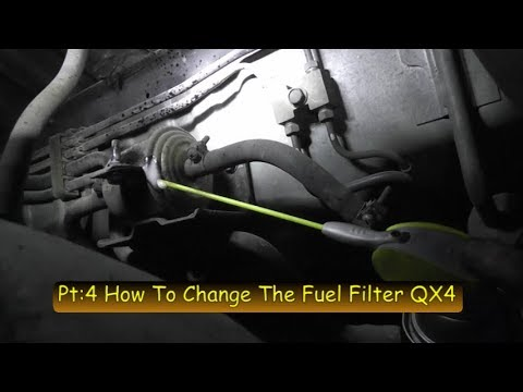2001 infiniti qx4 3 5l import tune up series pt  4 fuel filter service