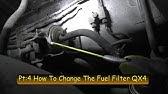 Change Fuel Filter Pathfinder or QX4 - YouTube