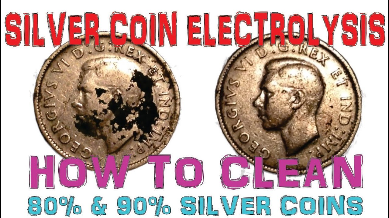silver coin electrolysis how to clean silver coins with 80 90 silver content youtube. Black Bedroom Furniture Sets. Home Design Ideas
