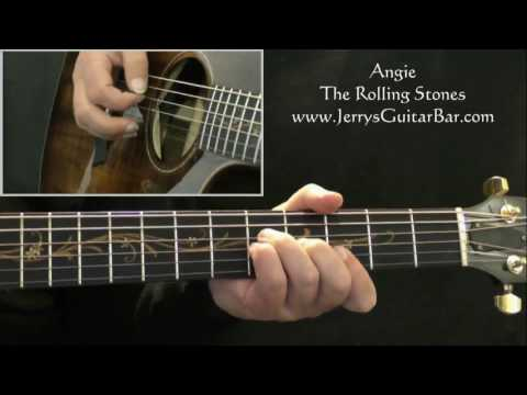 How To Play The Rolling Stones Angie (intro only)