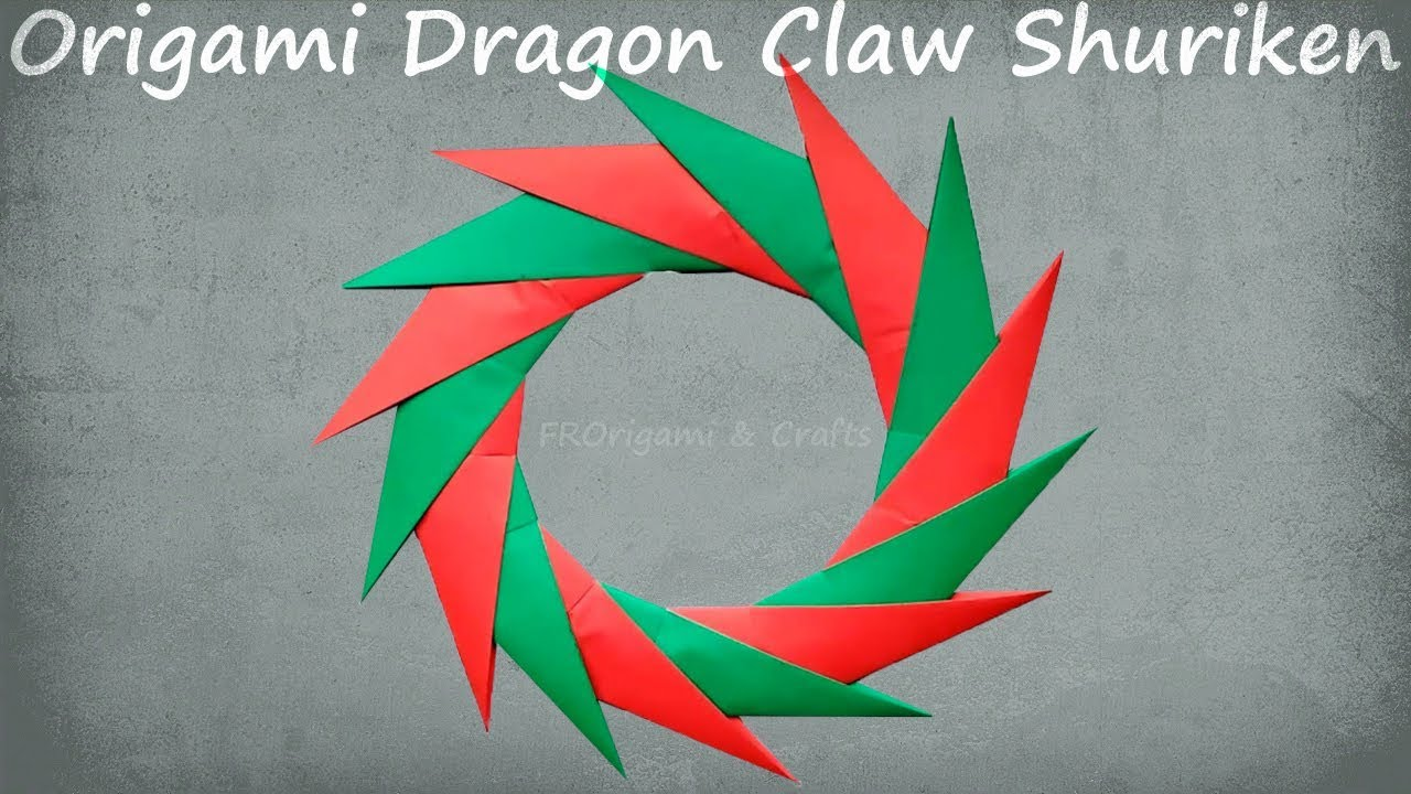 How To Make Easy Origami Dragon Claw Shuriken