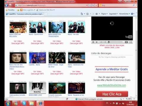 Descargar canciones mp3s gratis rápido. Usando TubeMP3s.com