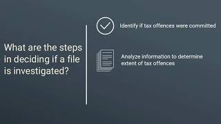 Steps in deciding if a file is selected for criminal investigation