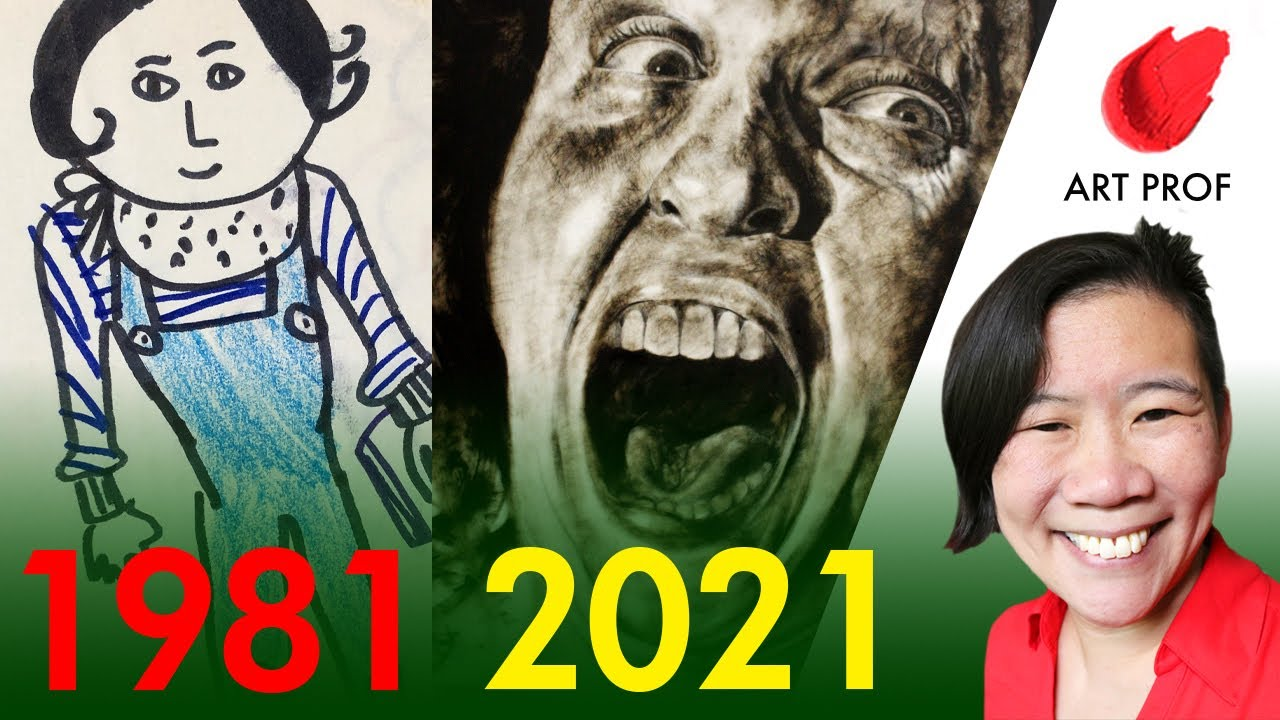 My ART PROGRESS in 40 Years: How I Found My Style! #shorts