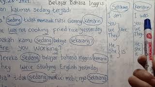 Belajar Bahasa Inggris | Latihan Kalimat Sedang Terjadi