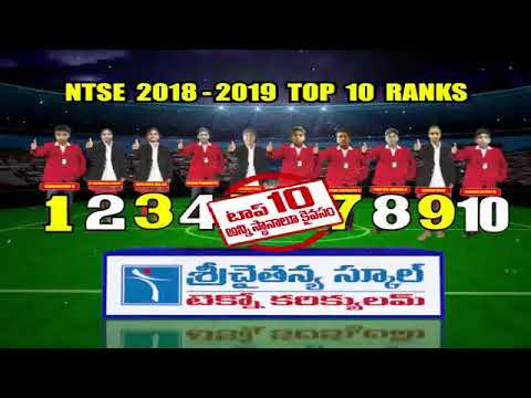 Sri Chaitanya Techno School || NTSE Result - 2019